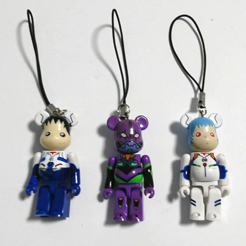 zz-- Be@rbrick 3 Mini Figures - Evangelion --zz