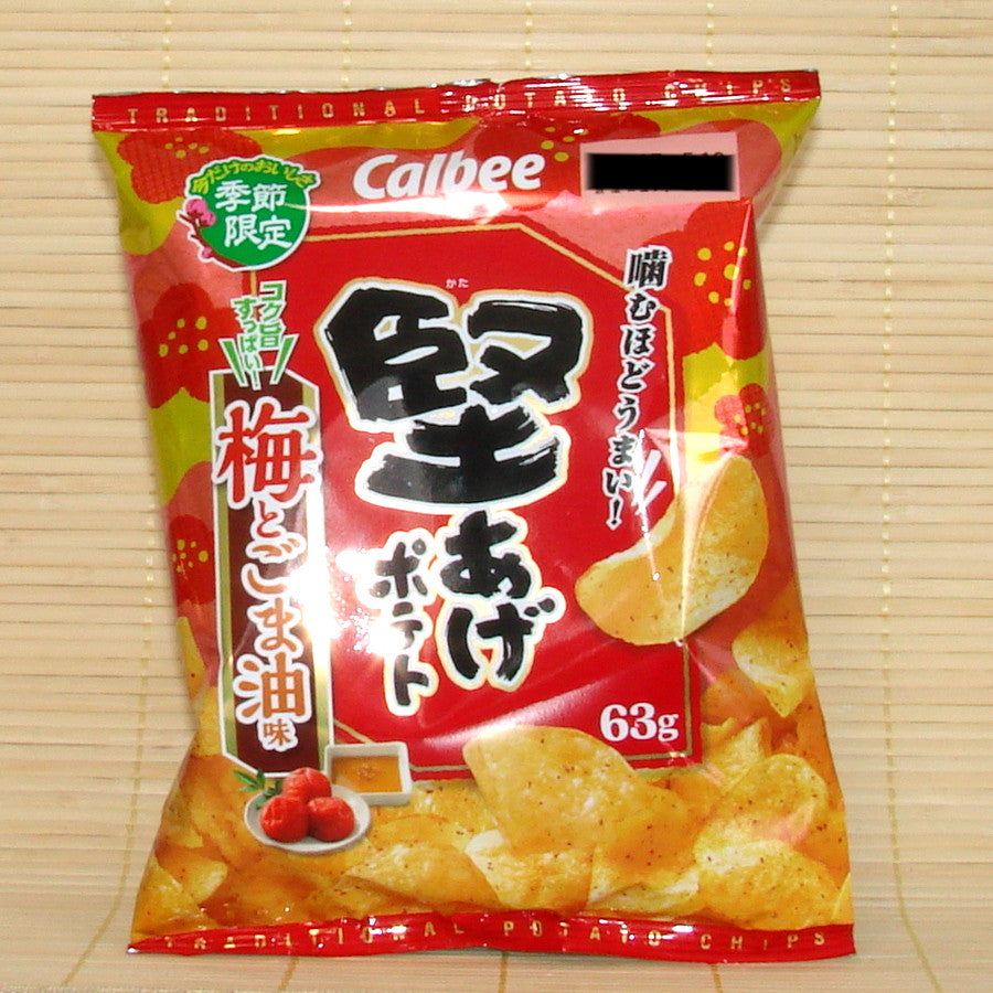 Calbee 'Kata-Age' Potato Chips - Plum & Sesame Oil
