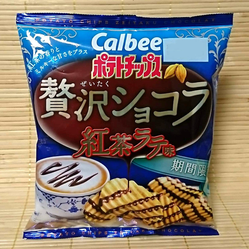 Calbee Potato Chips - English Tea Latte Chocolate
