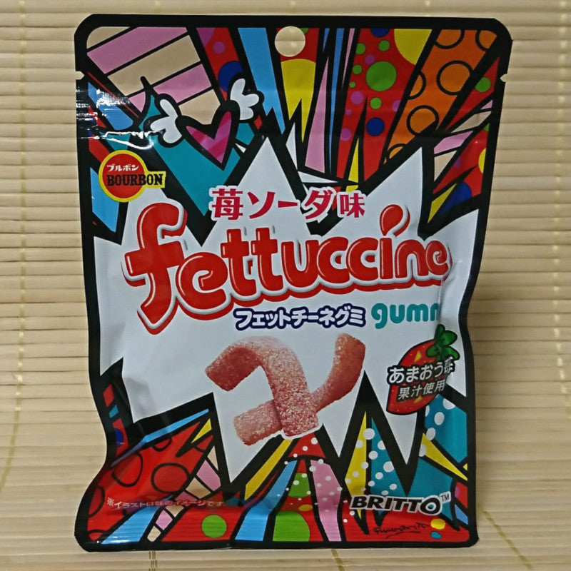 Fettuccine Gummy Candy - Strawberry (Britto)