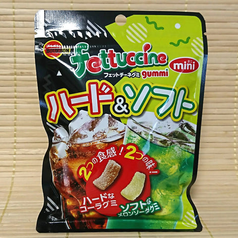 Fettuccine Gummy Candy - HARD Cola & SOFT Melon