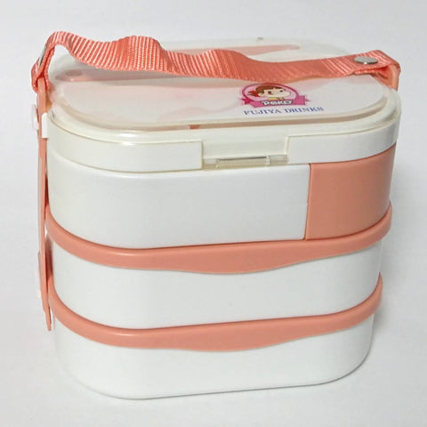 zz-- Peko Chan Three-Tier Bento Case with Bottle --zz