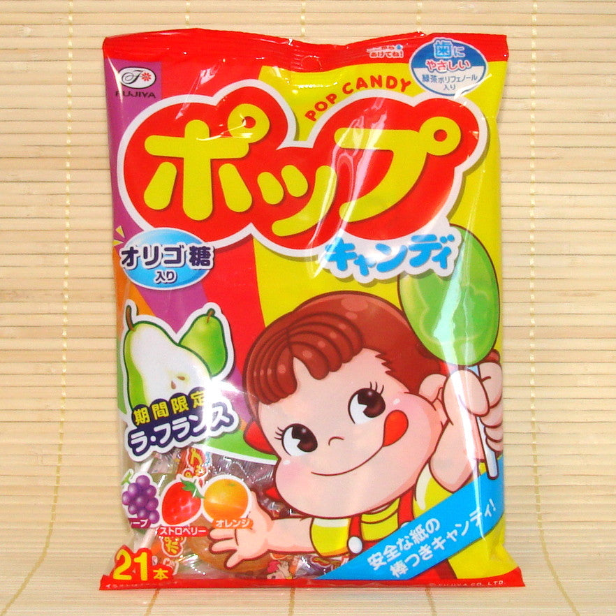 Peko Chan Pop Candy - 4 Flavor Lollipop Mix (w/ Pear)