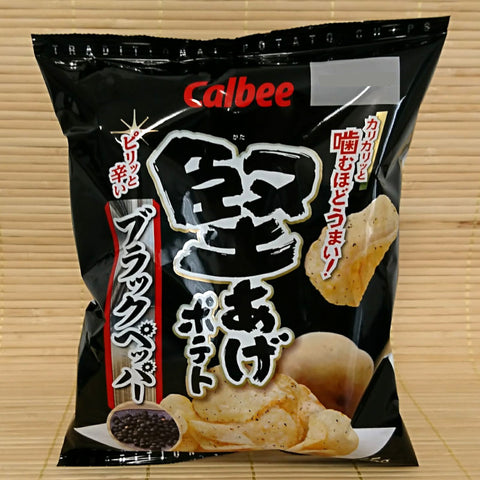 Calbee 'Kata-Age' Potato Chips - Black Pepper