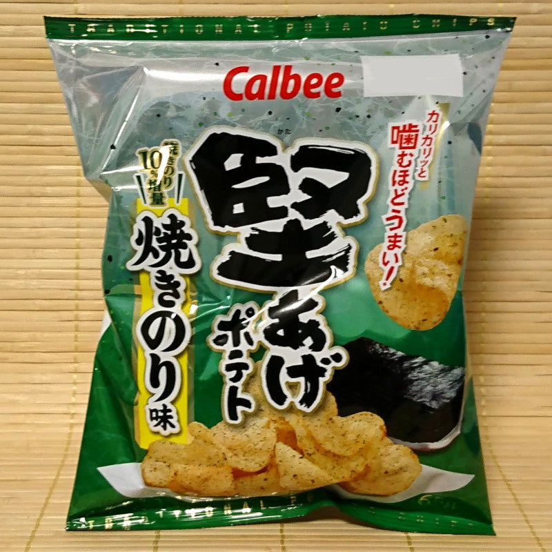 Calbee 'Kata-Age' Potato Chips - Grilled Seaweed