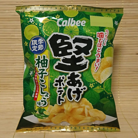 Calbee 'Kata-Age' Potato Chips - Yuzu Pepper