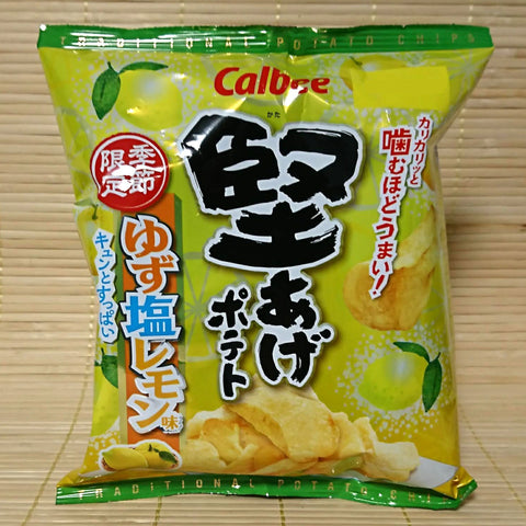 Calbee 'Kata-Age' Potato Chips - Yuzu Salty Lemon