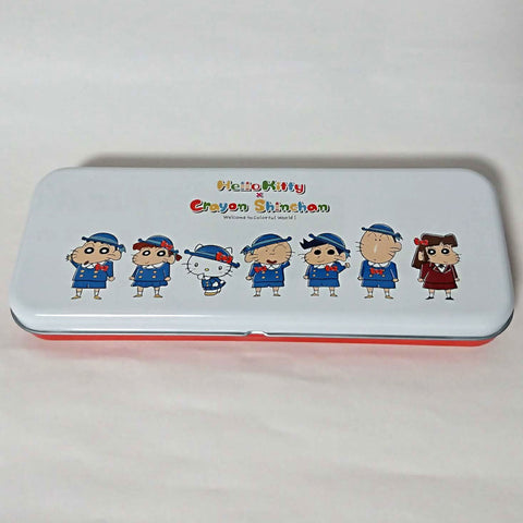 zz-- Hello Kitty x Crayon Shinchan Pen Case --zz