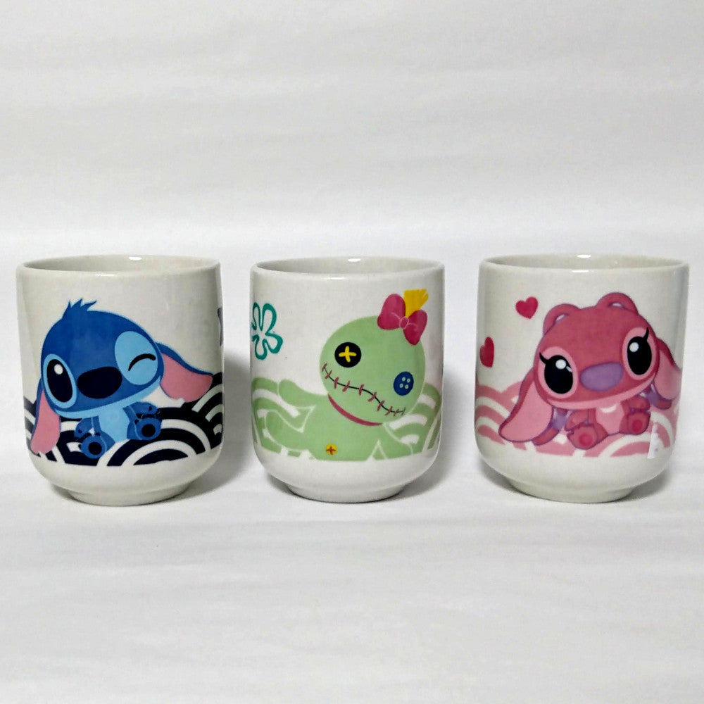 zz-- 3 Lilo & Stitch Japanese Tea Cups --zz