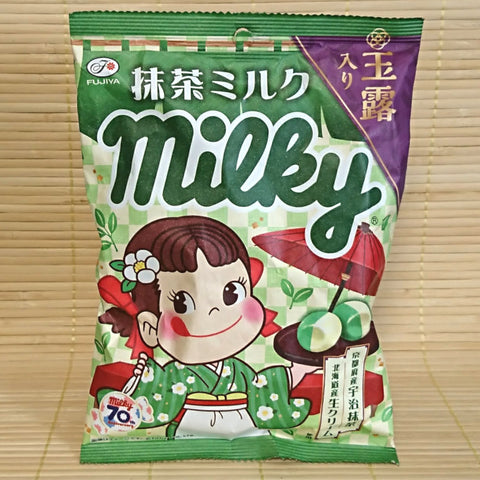 Milky Peko Chan Hard Candy - Green Tea Milk