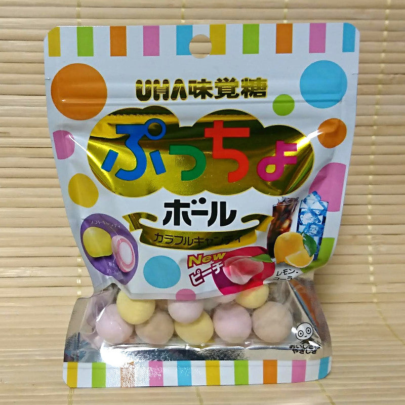 Puccho BALL Candy - Colorful Mix (w/ Peach)