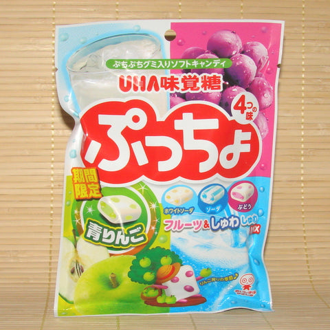 Puccho Soft Candy Chews - 4 Fruit Mix Bag (w/ Apple)