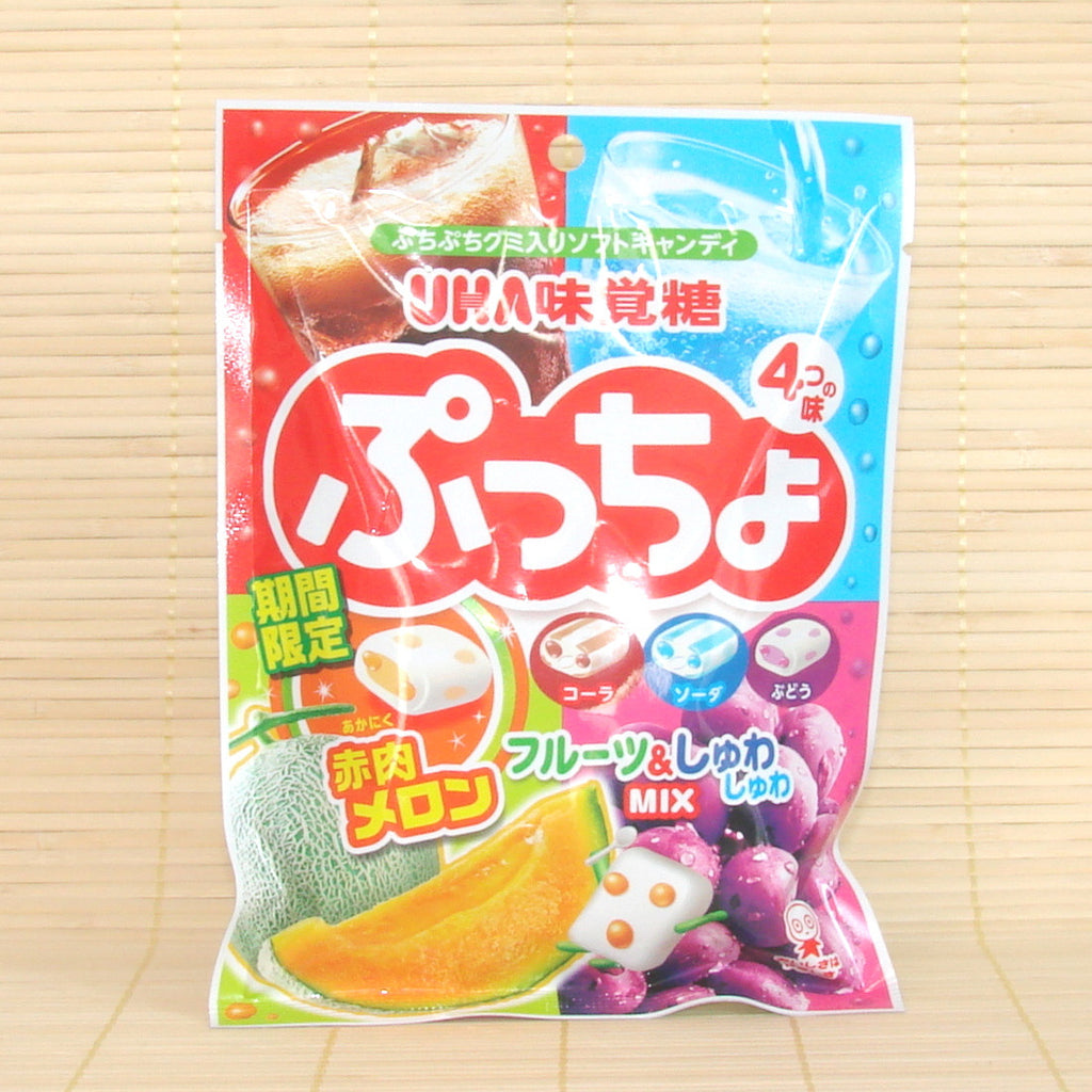 Puccho Soft Candy Chews - 4 Fruit Mix Bag (Melon)