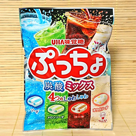 Puccho Soft Candy Chews - 4 SODA Mix Bag (w/ Melon)