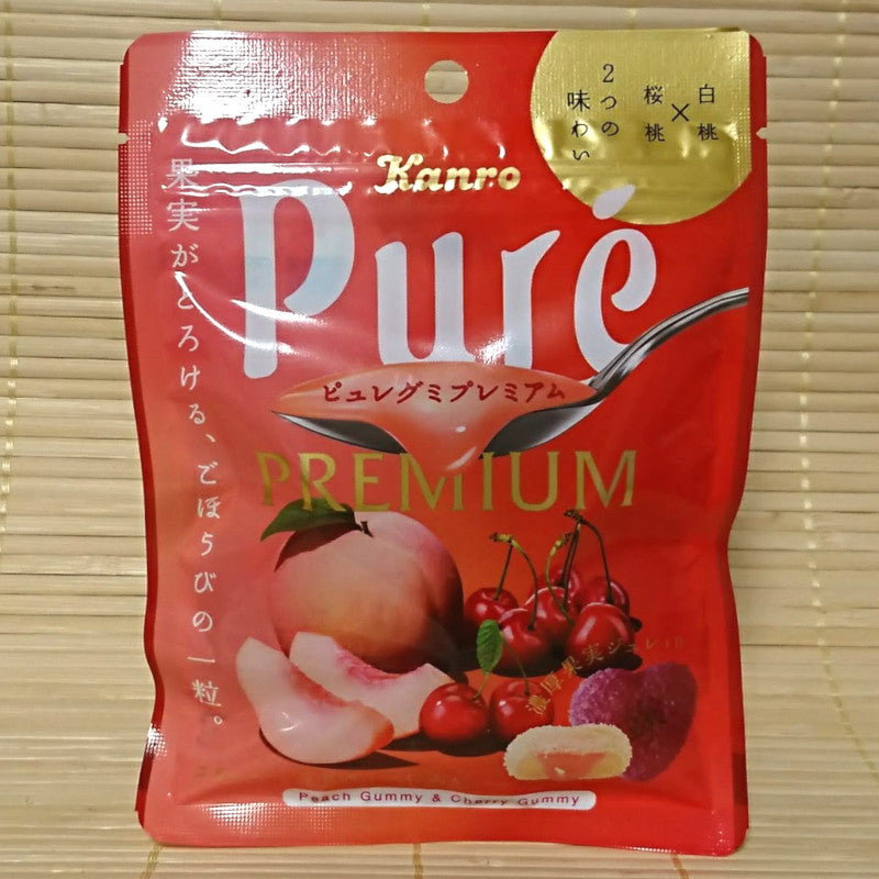 Puré Gummy Candy - PREMIUM Peach and Cherry