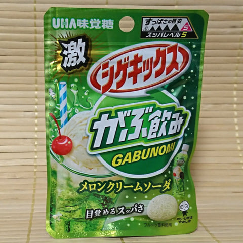 Shigekix Sour Candy - Gabunomi Melon Cream Soda