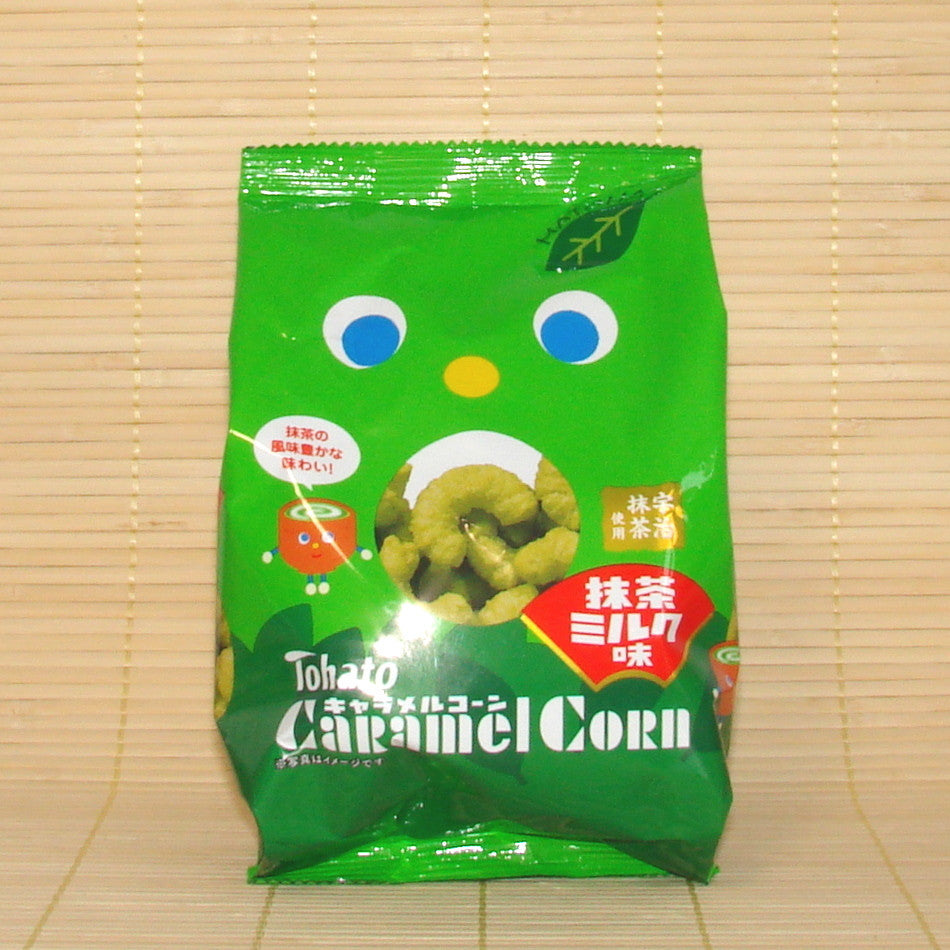 Tohato Caramel Corn - Green Tea Milk