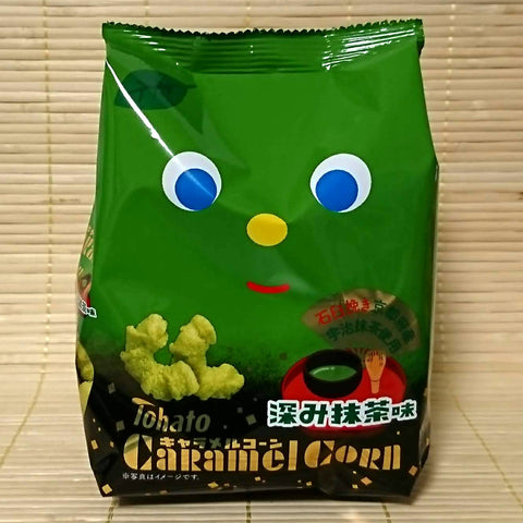 Tohato Caramel Corn - Strong Green Tea