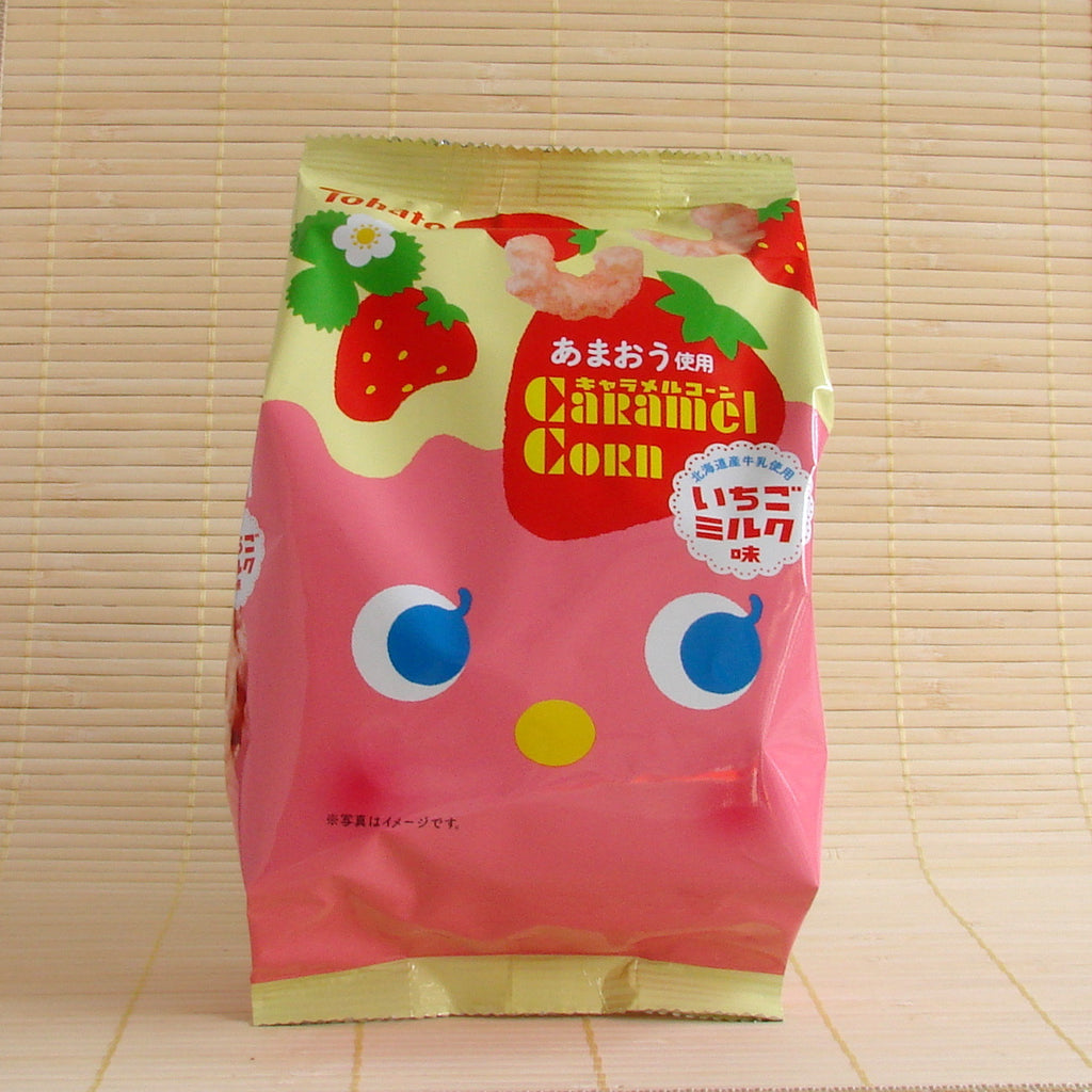 Tohato Caramel Corn - Strawberry Milk