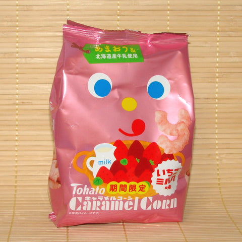Tohato Caramel Corn - Ichigo Milk (Strawberry)