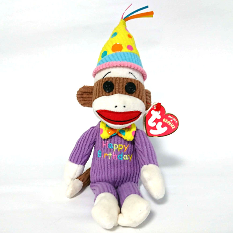 zz-- TY Beanies Happy Birthday Monkey Doll --zz