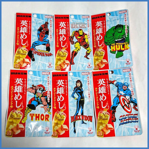 Energy Drink Candy - MARVEL (Set of 6 Characters)