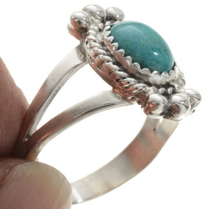 Kingman Turquoise and Silver Ring