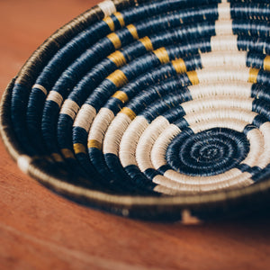 Small Night Sky Hand Woven Basket