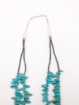 Double Strand Turquoise Nugget Necklace