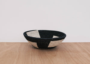Large Black + White Geometric Hope Bowl