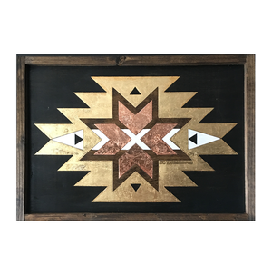 The Tulum Handmade Wood Framed Wall Art
