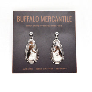 White Buffalo Post Earrings