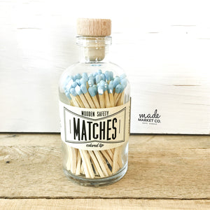 Powder Blue Vintage Apothecary Matches