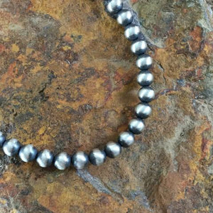 6mm Sterling Silver Navajo Pearls