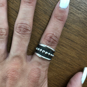 Sterling Silver Dot Overlay Ring