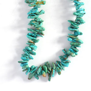 Turquoise Nugget and Pen Shell Necklace