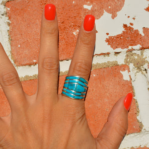 Turquoise Channel Inlay Ring