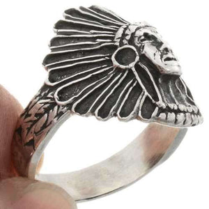 Men's Sterling Silver Chief Ring