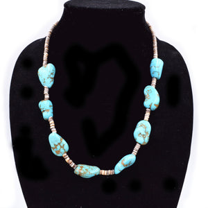 Old Pawn Turquoise Nugget  Necklace