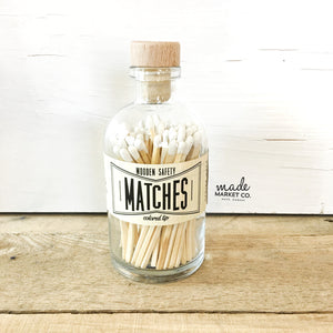 White Vintage Apothecary Matches