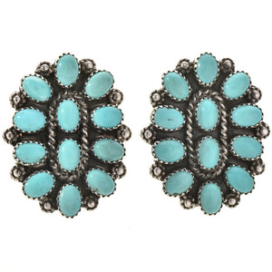 Vintage Style Navajo Cluster Earrings