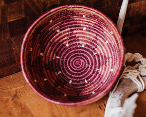 Berry Blend Hand Woven Catch-All Basket