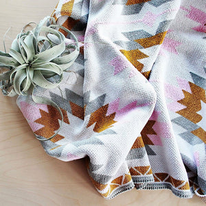 Pink Sedona Mesa Throw