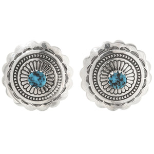 Silver and Turquoise Concho Posts