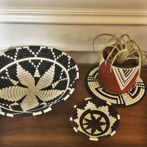 Black + White Tribal Trivet