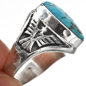 Men's Turquoise and Sterling Thunderbird Ring
