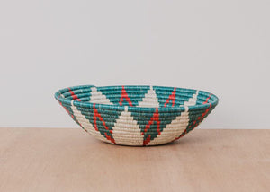 Large Teal and Red Hope Bowl