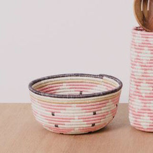 Desert Rose Hand Woven Catch-All Basket