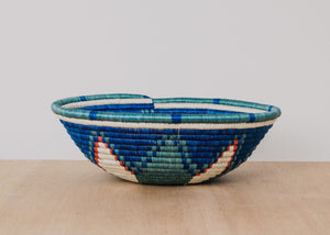 X-Large Crater Lake Hand Woven Hope Bowl