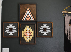"""The Navajo"" Handmade Wood Framed Wall Art"